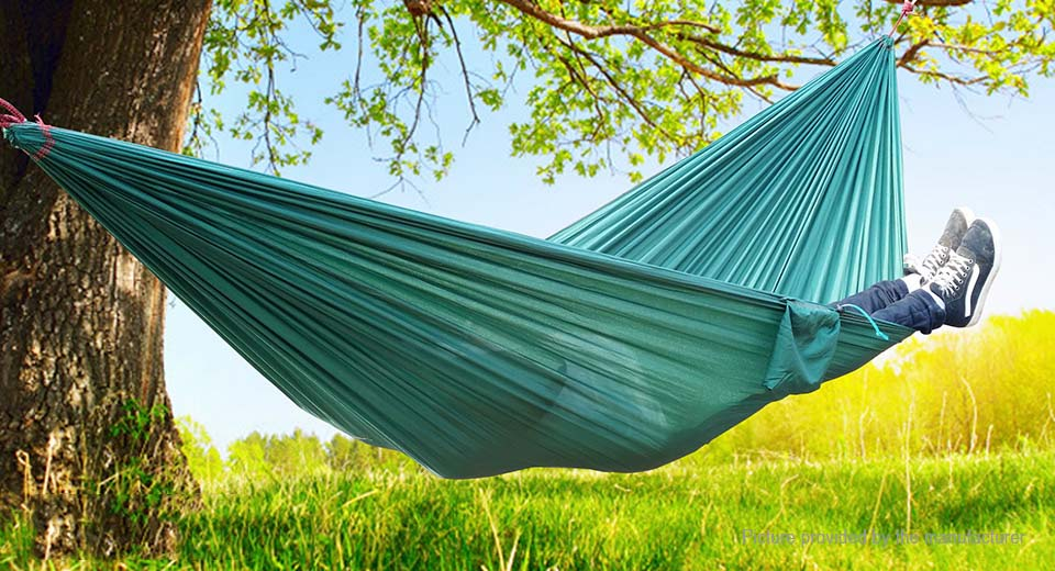 Outdoor Portable Camping Hammock Two Person Double Hanging Swing Bed