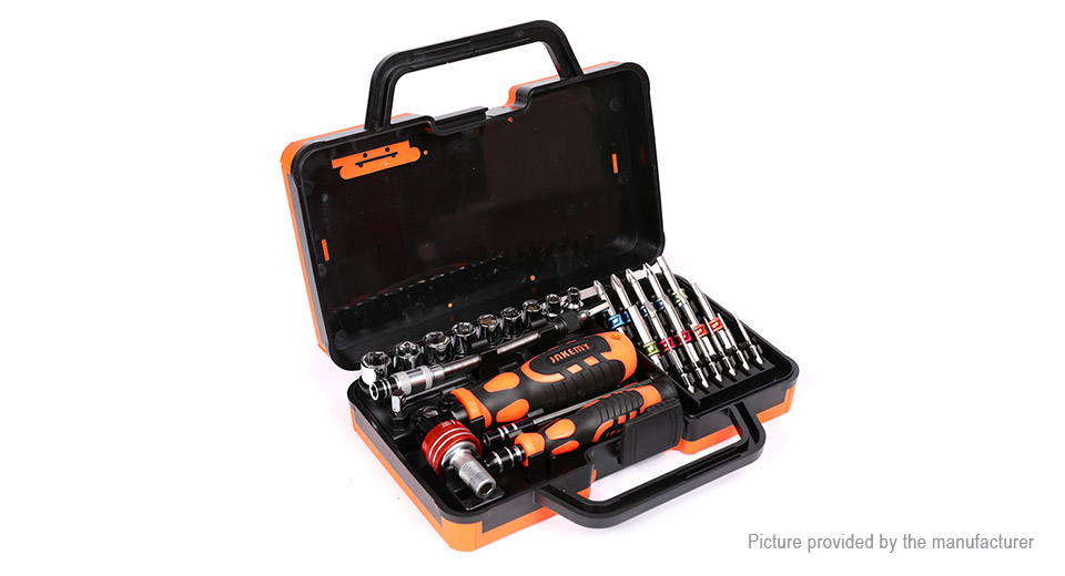 DIY Electronics 8770400 JAKEMY JM6123 Multi-Bit Ratchet Screwdriver Kit (31 Pieces)