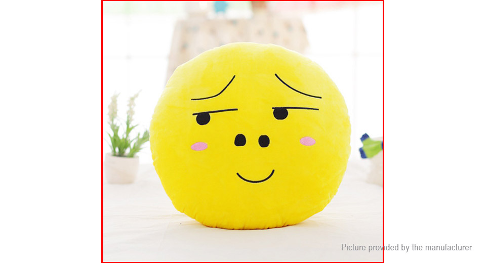 Round Face Expression Soft Pillow Plush Toy (40*40cm)