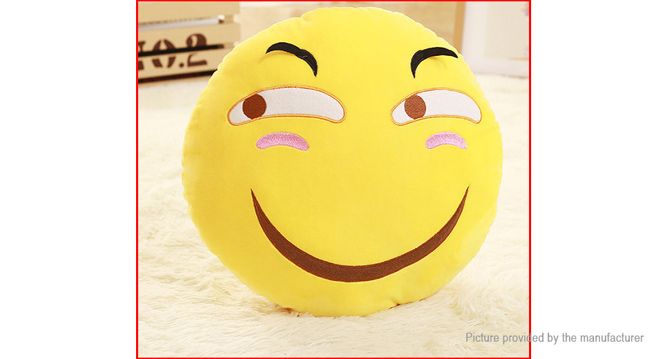 Round Face Expression Soft Pillow Plush Toy (37*37cm)