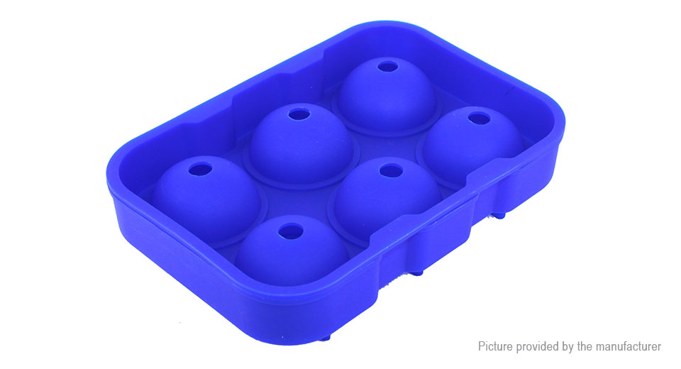 DIY 6 Holes Round Ball Shaped Ice Cube Sphere Tray Cake Baking Mold