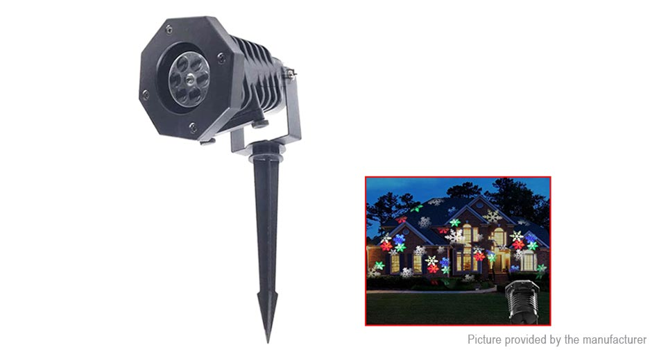 Outdoor LED Stage Light Laser Snowflake Projector Lamp (UK)