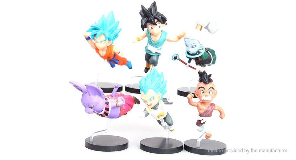 Dragon Ball Goku Flying Figure Doll Toy Set (6-Piece Set)