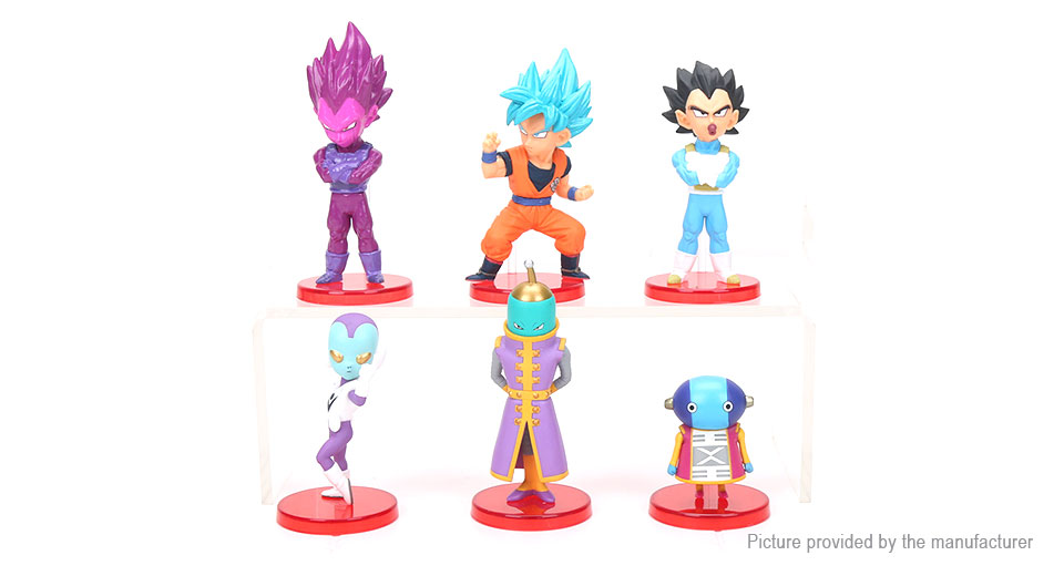 Dragon Ball Goku Q Version Figure Doll Toy Set (6-Piece Set)