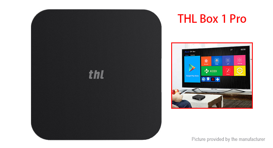 THL Box 1 Pro Quad-Core Marshmallow TV Box (16GB/US) Box 1 Pro, Black, US, 2GB/16GB