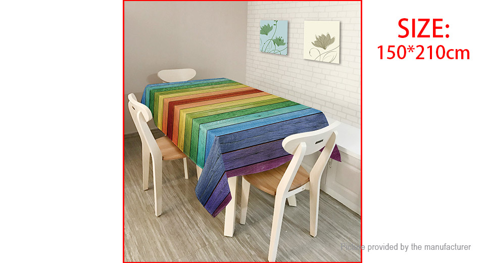 American Style Creative Landscape Colorful Tablecloth (150*210cm)