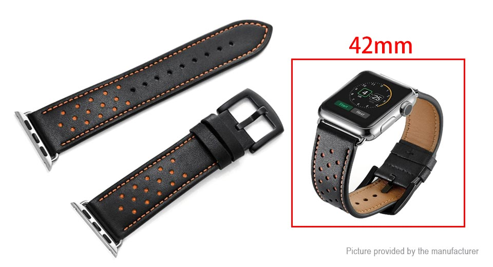 Leather Replacement Watchband for Apple ...
