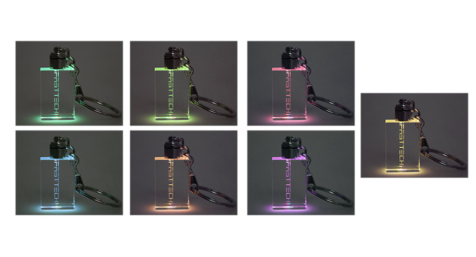 Image of FASTTECH 7-Color Light Crystal Key Chain