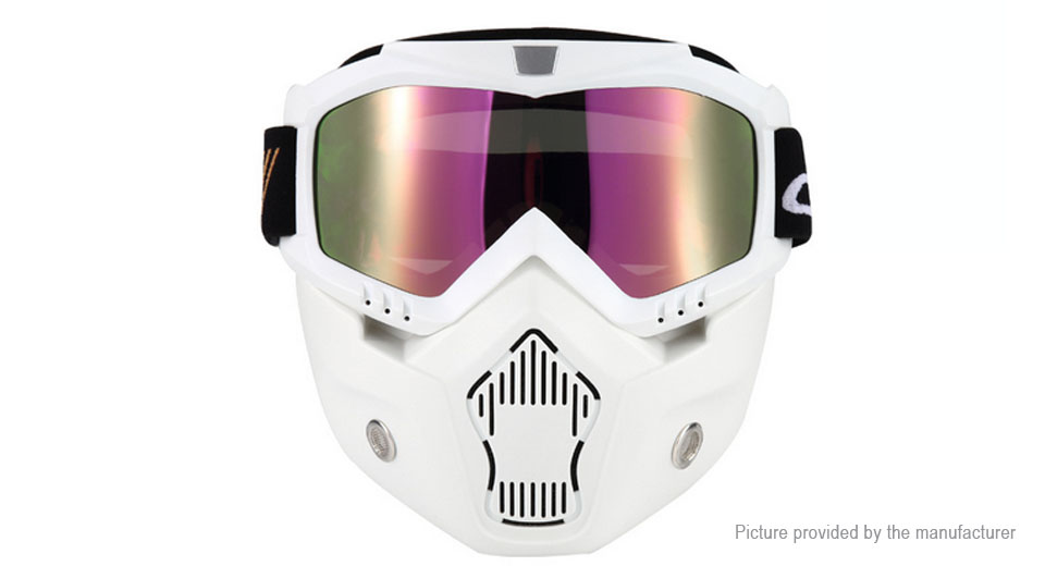 BSDDP Detachable Motorcycle Bicycle Modular Helmet Face Mask Shield Goggles