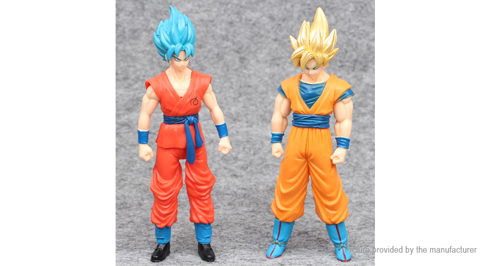 Dragon Ball Super Seiya Goku Figure Doll Toy Set (2-Piece Set)
