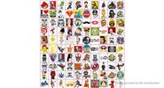 Buy Car Motorcycle Bicycle Skateboard Laptop Luggage Decal Stickers (100 Pieces), Style J, 100 Pieces for $4.38 in Fasttech store