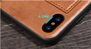 Kanjian Car Magnetic PU Protective Back Case Cover for iPhone X