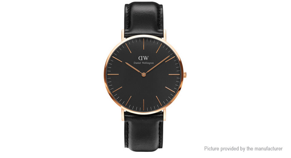 Daniel Wellington Men's Leather Band ...
