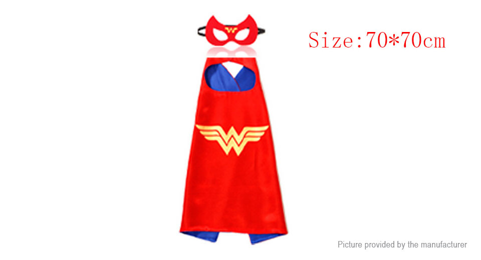 Children Cartoon Dress Up Cosplay Costumes Satin Capes