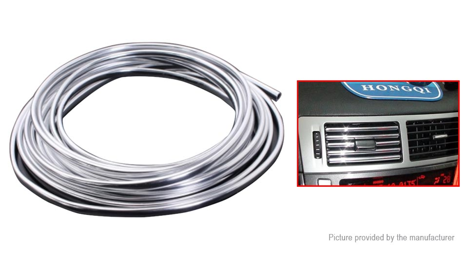 6mm Chrome Moulding Decorative Strip Car Door Edge Protector Cover