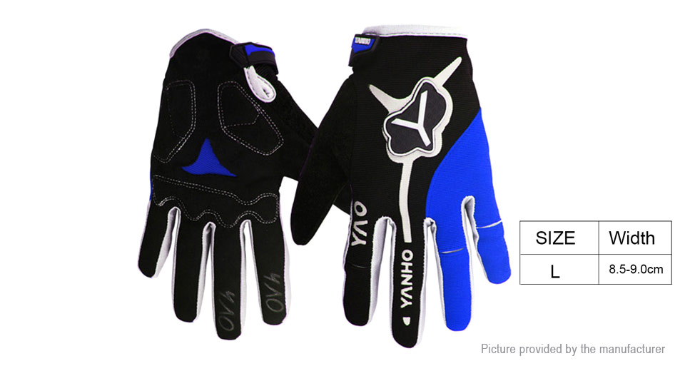 YANHO Unisex Outdoor Cycling Full-finger Warm Keeping Gloves (Size L/Pair)