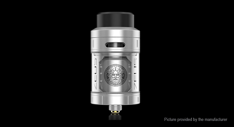 Authentic GeekVape Zeus RTA Rebuildable Tank Atomizer (TPD Edition) Zeus, SS + Glass, SS Color, TPD