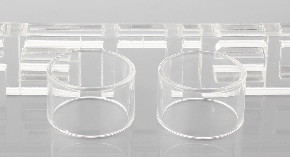 Authentic Karnoo Fighter Replacement Glass Tank (2-Pack) Fighter, Glass, Translucent, 2-Pack