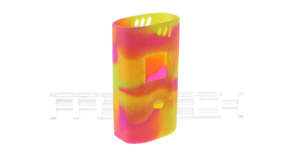 Authentic Clrane Protective Silicone Sleeve Case for SMOK Alien 220W Mod SMOK Alien 220W, Yellow + Green + Pink, textured