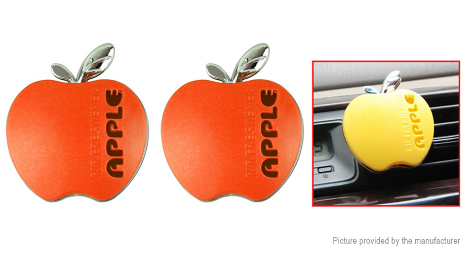Apple Styled Car Vent Air Fresher Solid Perfume (Pair)
