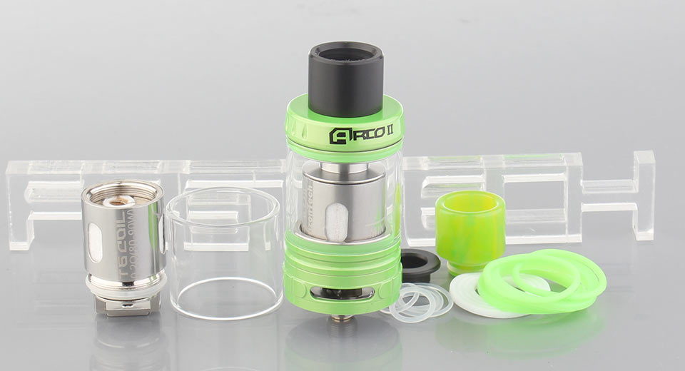 Authentic Horizon Arco 2 Sub Ohm Tank Clearomizer Arco 2, SS, Green