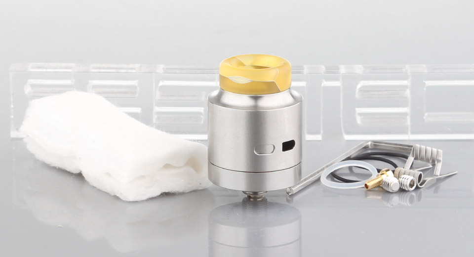 Authentic Wismec Guillotine RDA Rebuildable Dripping Atomizer Guillotine, SS, Yellow Resin