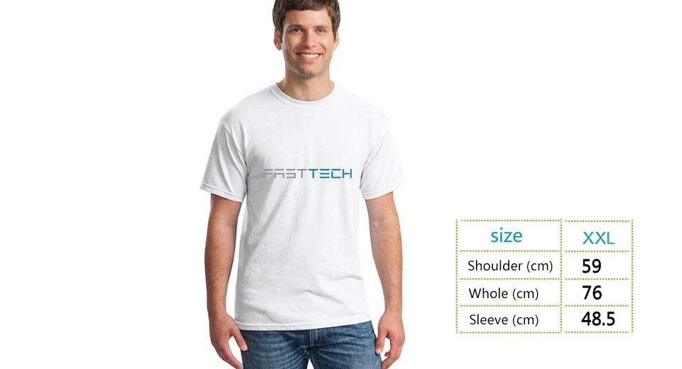 Image of FASTTECH Cotton Round Collar Short Sleeve T-shirt (Size 2XL)
