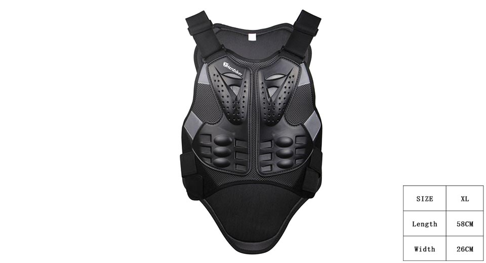 HEROBIKER Motorcycle Racing Body Back Armor Protective Gear (Size XL)