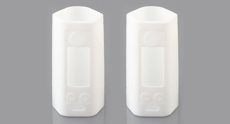 Protective Silicone Sleeve Case for Wismec Reuleaux RX GEN3 300W Mod (2-Pack), RX GEN3 300W, Silicone, White, 2-Pack