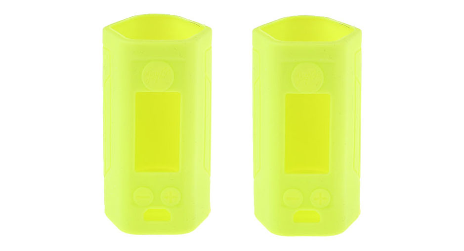 Protective Silicone Sleeve Case for Wismec Reuleaux RX GEN3 300W Mod (2-Pack) RX GEN3 300W, Silicone, Green, 2-Pack