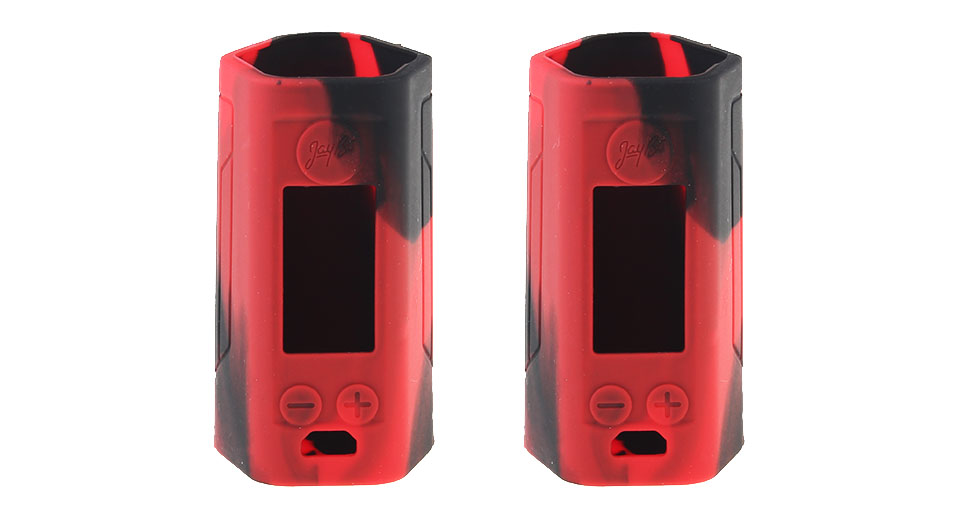 Protective Silicone Sleeve Case for Wismec Reuleaux RX GEN3 300W Mod (2-Pack) RX GEN3 300W, Silicone, Black + Red, 2-Pack