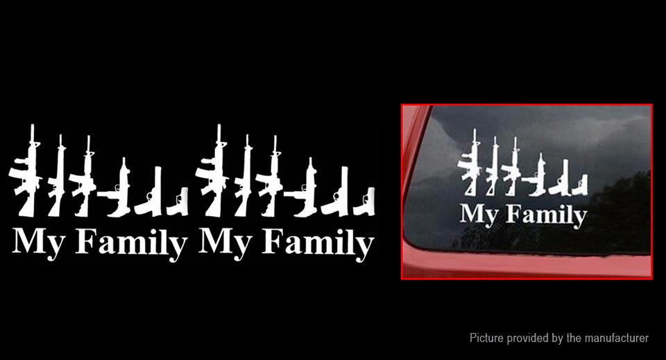 My Family Character Styled Car Decoration Decal Sticker (2-Pack)