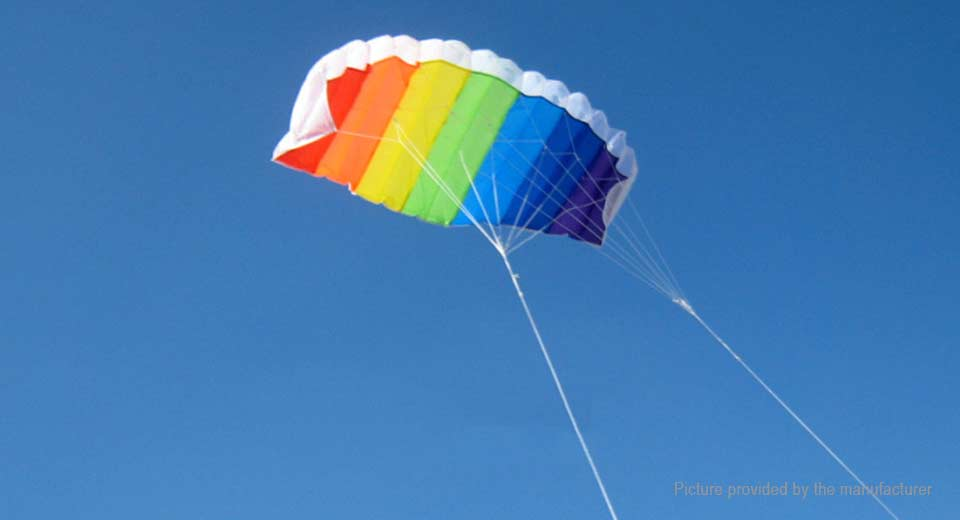 Image of 1.4m Soft Parachute Rainbow Sports Beach Frameless Flying Kite