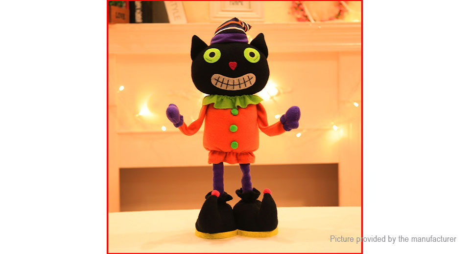 Black Cat Stretchable Stuffed Cartoon Doll Plush Soft Toy