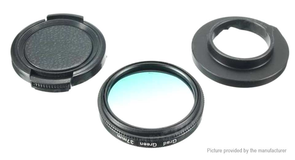 Image of 37mm Gradual Green UV Lens Filter Kit for GoPro HERO3/HERO3+