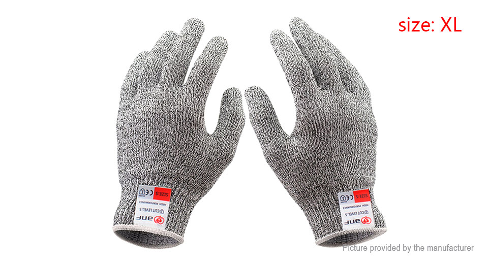 Image of Anti-skid Full Finger Protective Gloves (Size XL/Pair)