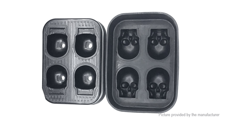 4 Hole Skull Styled DIY Tray Ice Cube Mold