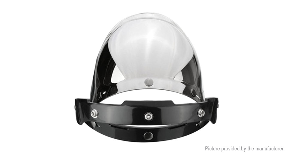 3-Snap Button Bubble Visor Flip Up Wind Face Shield Lens for Motorcycle Helmet