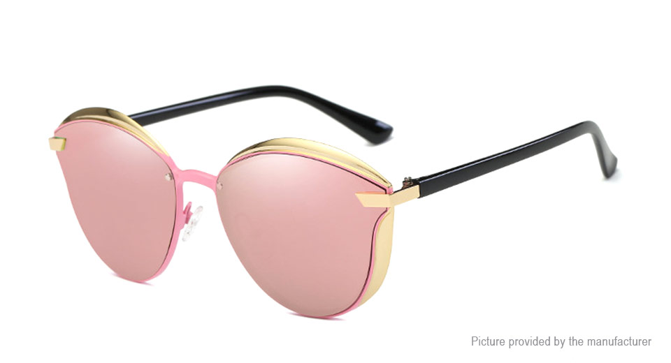 Metal Frame Polarized Sunglasses C1, Pink