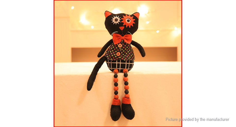 Black Cat Stuffed Cartoon Doll Plush Soft Toy