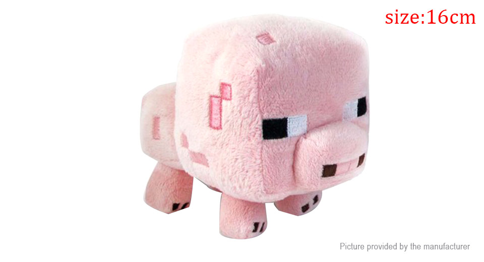 Minecraft Animals Doll Pig Plush Stuffed Soft Toy (16cm)