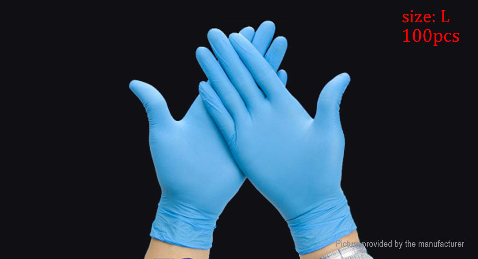 Acid & Alkali Resistant Safety Disposable Gloves (Size L)