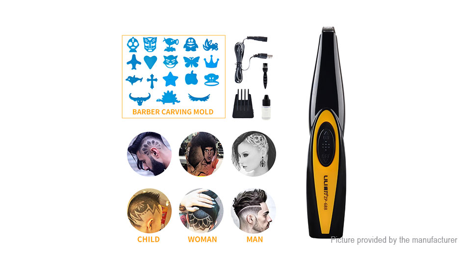 LILI ZP-688 Rechargeable Electronic Lettering Carving Hair Clipper