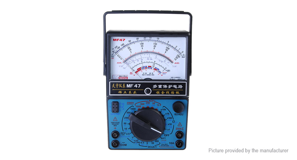 MF-47 Analog Multimeters Volt Meterr Ammeter Ohm Meter Battery Tester