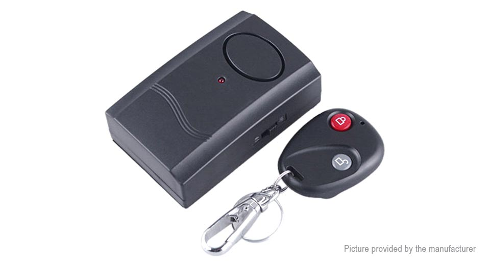 Wireless Remote Control Vibration Alarm for Door Window Security