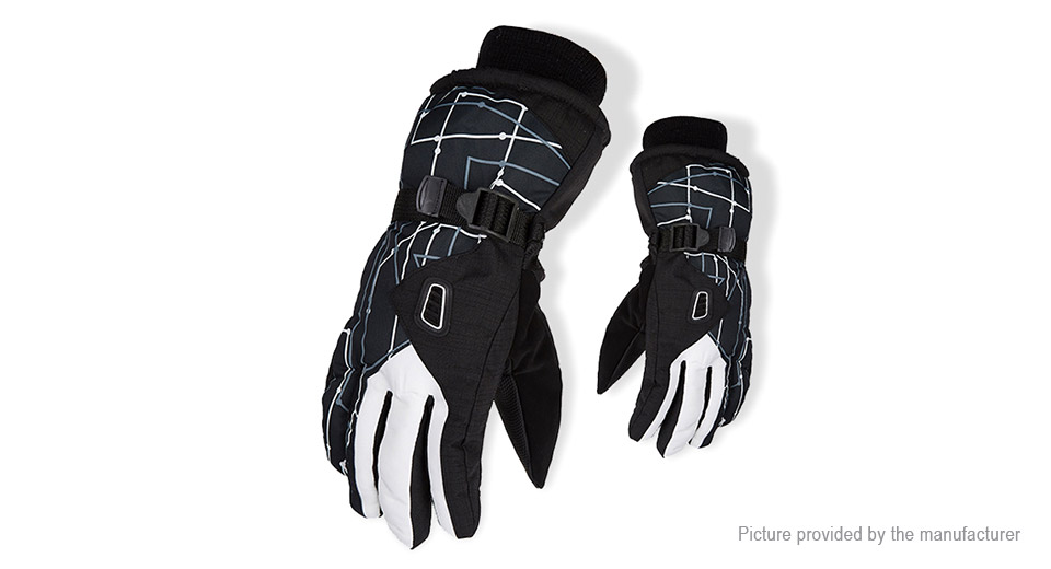 Men's Outdoor Cycling Skiing Full-finger Warm Keeping Gloves (Free Size)