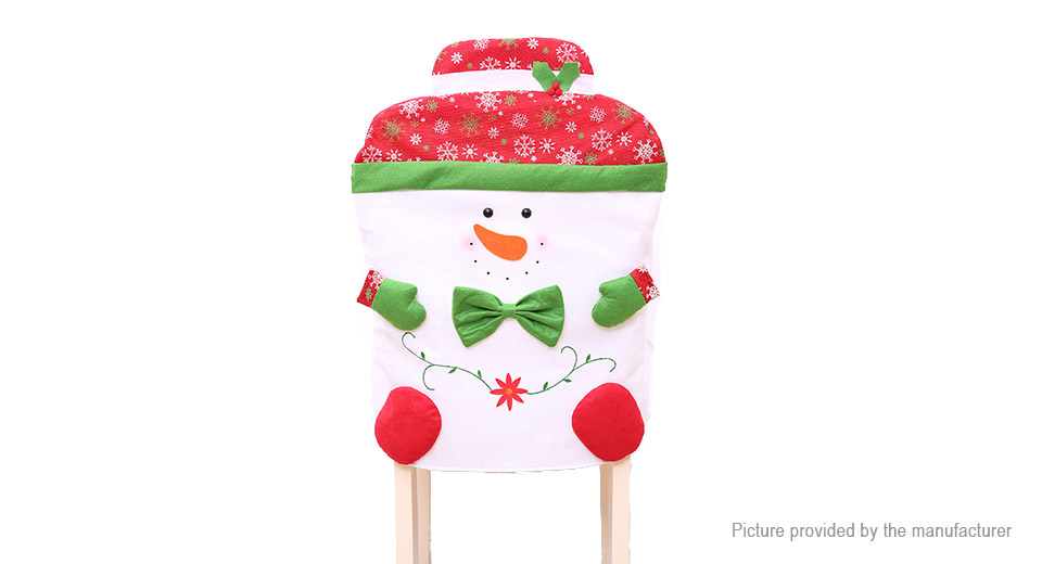 Snowman Styled Chair Cover Kitchen Dinner Seat Back Cover Christmas Home Decor