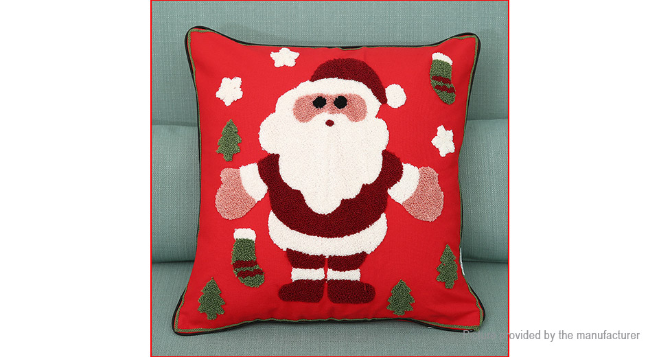 Santa Claus Styled Embroidering Pillow Case Cushion Cover Home Decor