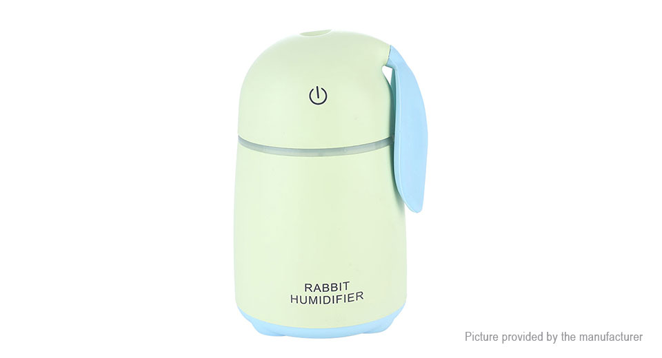 Rabbit Styled USB Mini Humidifier LED Night Light Air Purifier