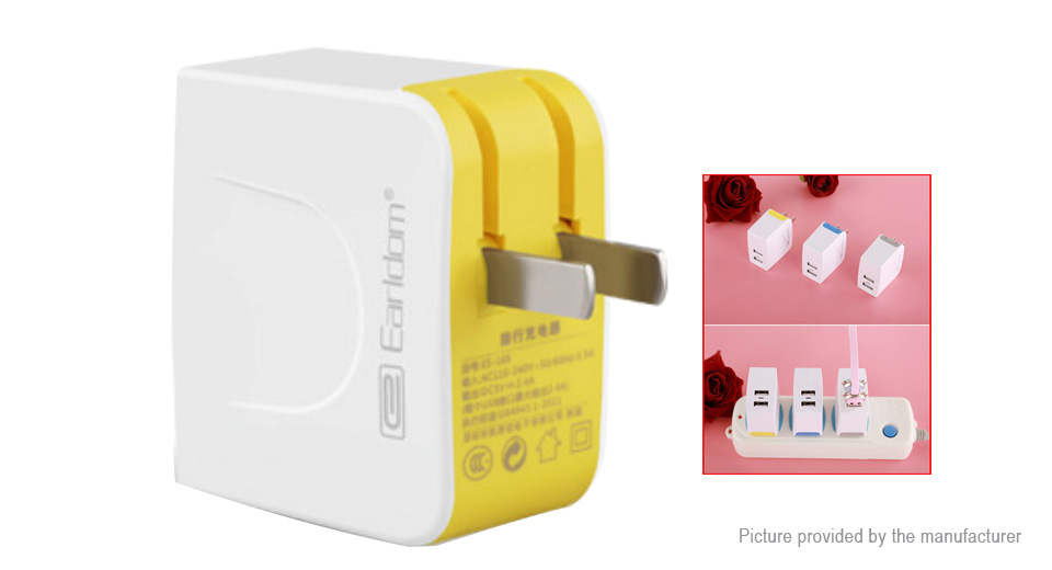 Product Image: earldom-es-168-dual-usb-wall-charger-power